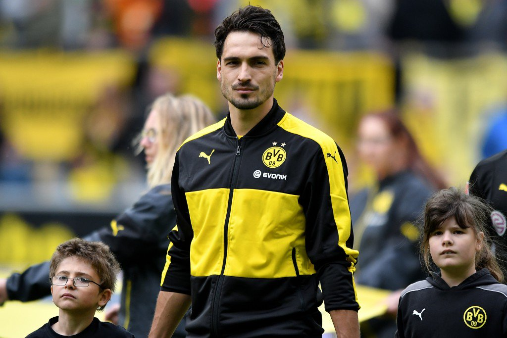 DORTMUND, GERMANY - MAY 14: Mats Hummels of Dortmund looks on prior to the Bundesliga match between Borussia Dortmund and 1. FC Koeln at Signal Iduna Park on May 14, 2016 in Dortmund, Germany. (Photo by Sascha Steinbach/Bongarts/Getty Images)