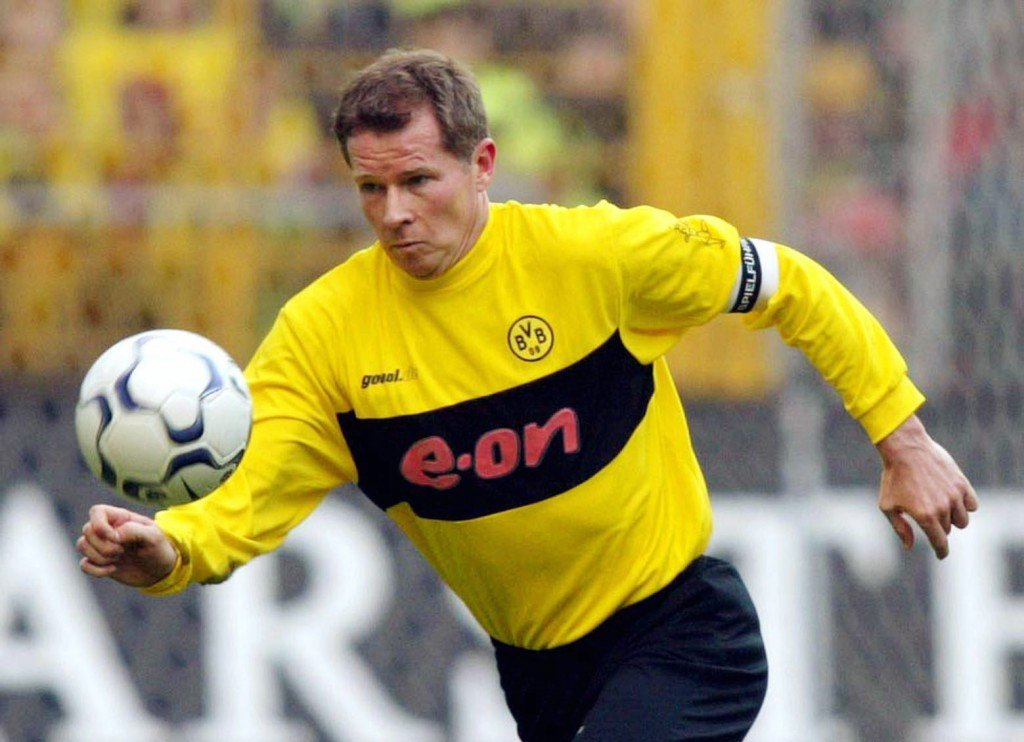 DORTMUND, GERMANY - MARCH 01: 1. Bundesliga 02/03, Dortmund; Borussia Dortmund - FC Hansa Rostock 2:0; Stefan REUTER/Dortmund (Photo by Martin Rose/Bongarts/Getty Images)