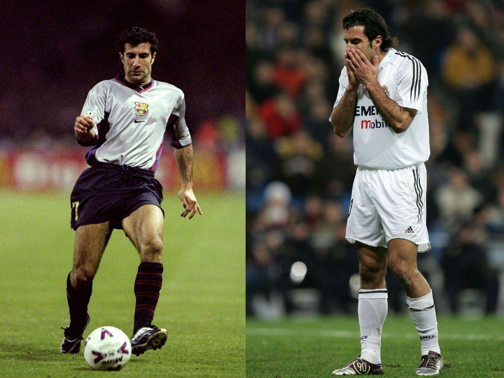 Luis Figo (FC Barcelona zu Real Madrid) – Ein Wechsel, der vieles veränderte. Foto: Getty Images