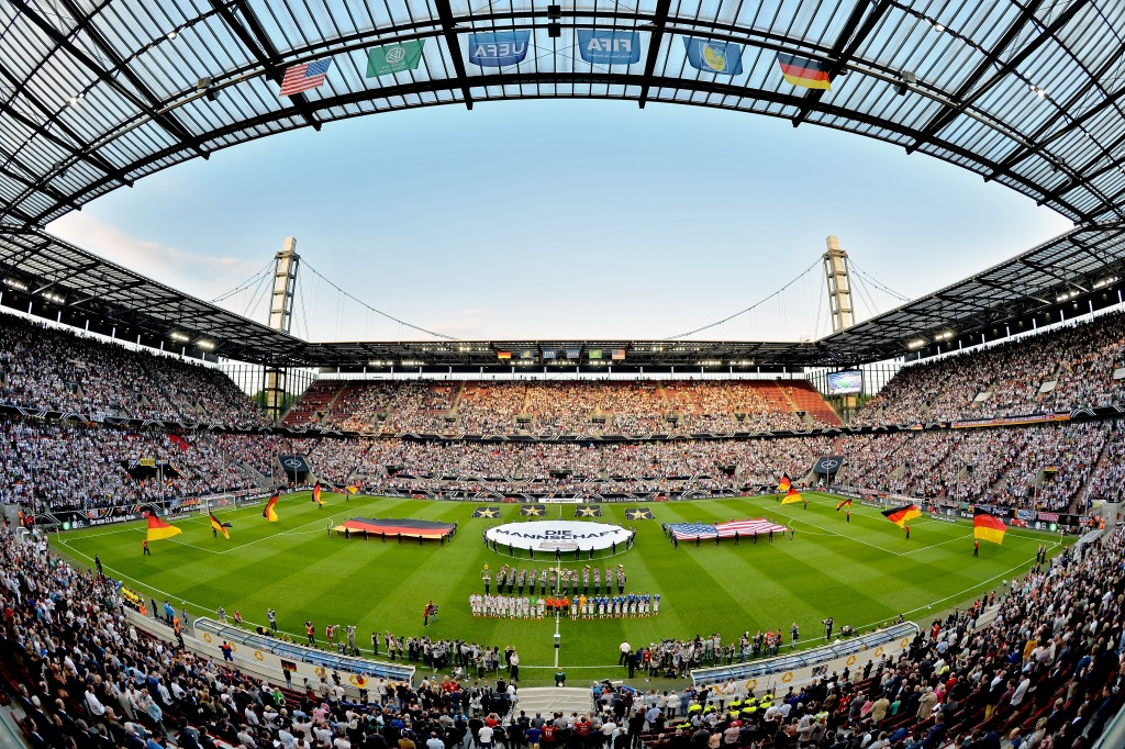 COLOGNE, GERMANY - JUNE 10: A general view of the stadium prior to the international friendly match between Germany and USA at RheinEnergieStadion on June 10, 2015 in Cologne, Germany. (Photo by Sascha Steinbach/Bongarts/Getty Images)