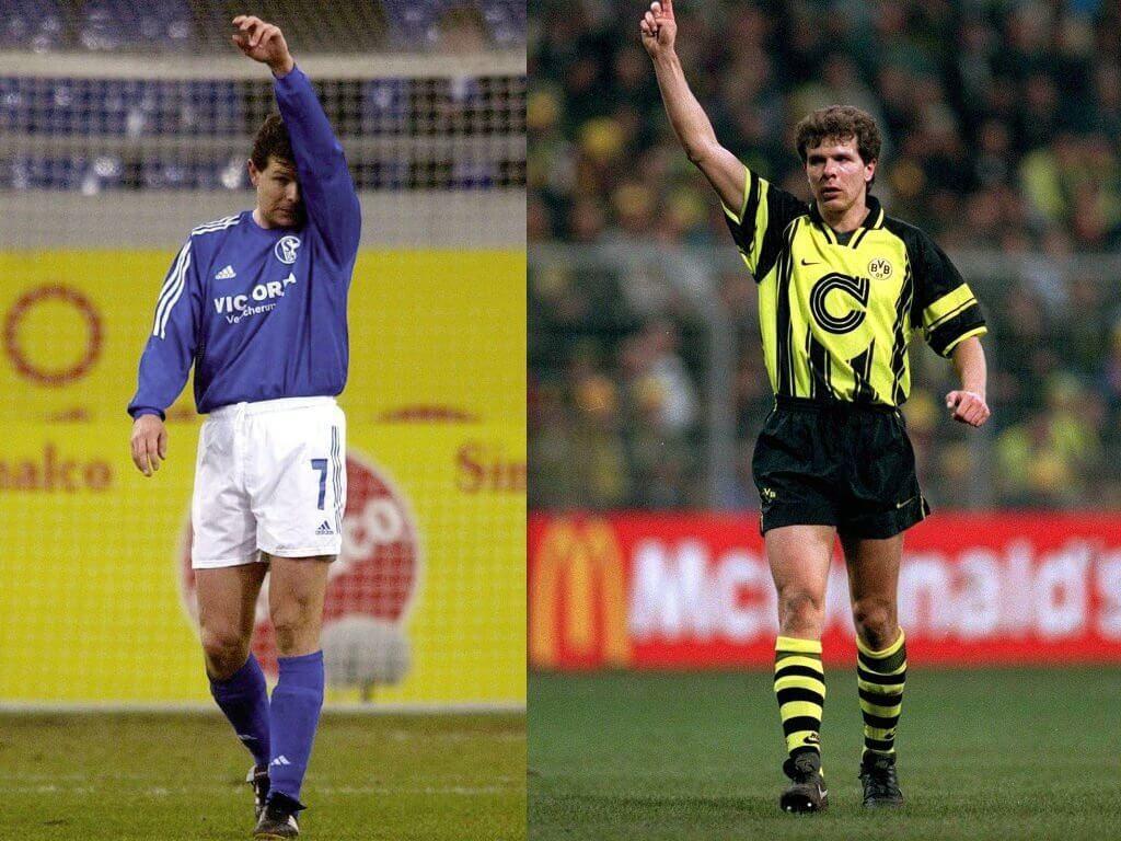 Andreas Möller (Dortmund zu Schalke) – Heulsuse mit dickem Fell. Foto: Getty Images
