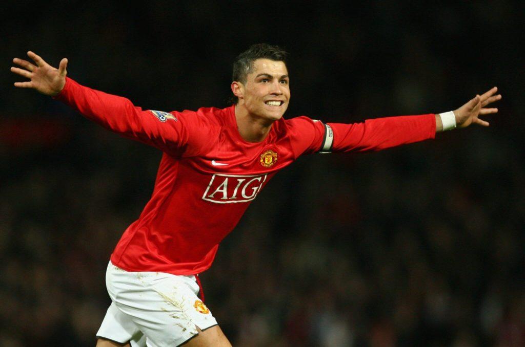 Da war er noch jung: Cristiano Ronaldo im Dress von Manchester United. Foto: Getty Images