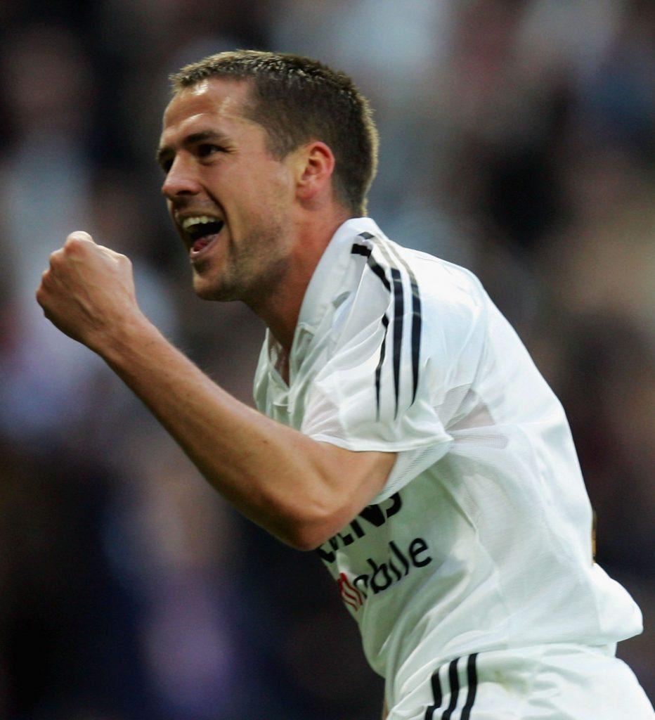 Michael Owen jubelte bei Real Madrid, spät, selten, aber dafür nicht minder enthusiastisch...