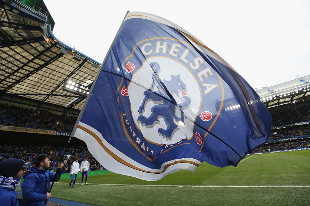 Die Fahne des FC Chelsea London. Foto: Getty Images