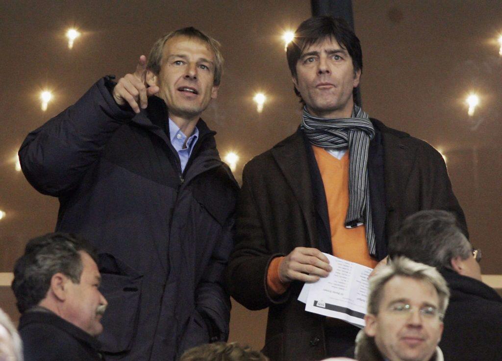Jürgen Klinsmann (links) war kurz Bayern-Trainer und bildete bei der Nationalmannschaft ein Erfolgsduo mit Jogi Löw. Foto: Getty Images