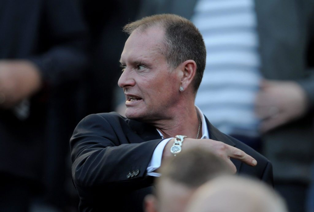 Paul Gascoigne appears in public: Getty Images