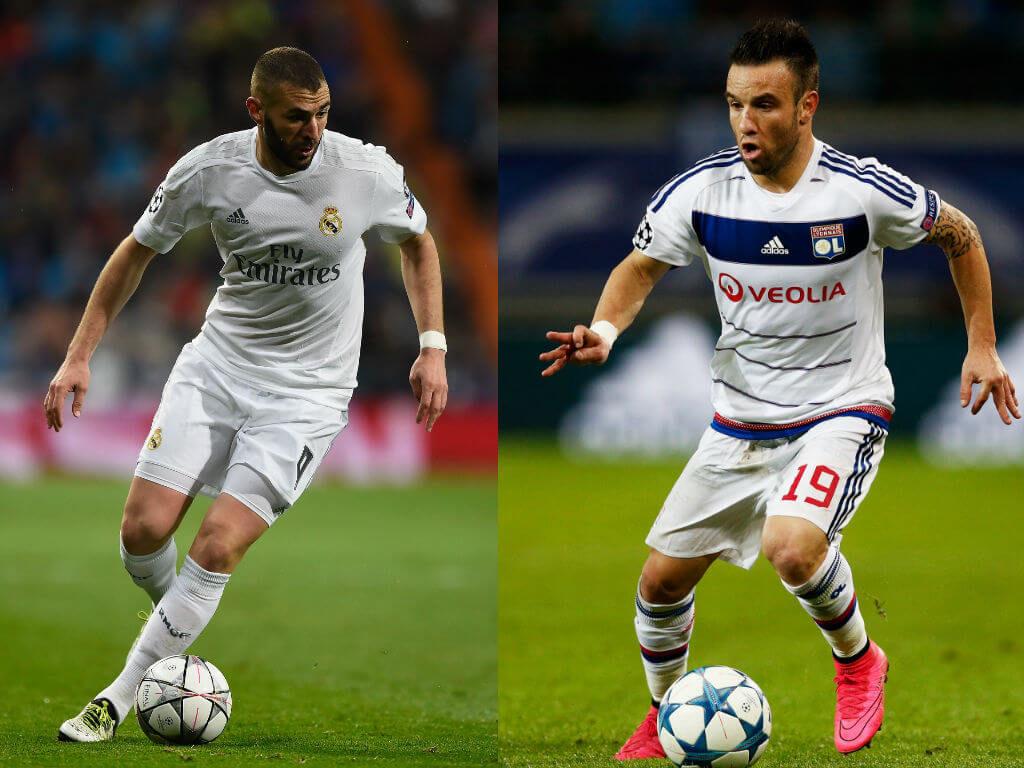 Karim Benzema vs Mathieu Valbuena. Fotos: Getty Images