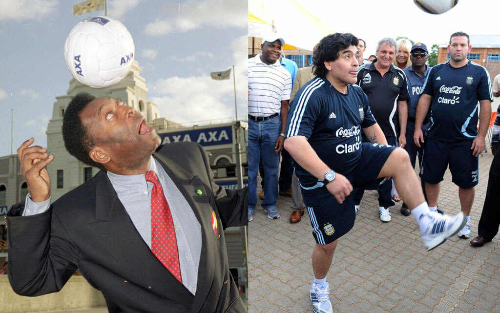 Pele oder Maradona? Foto: Getty Images
