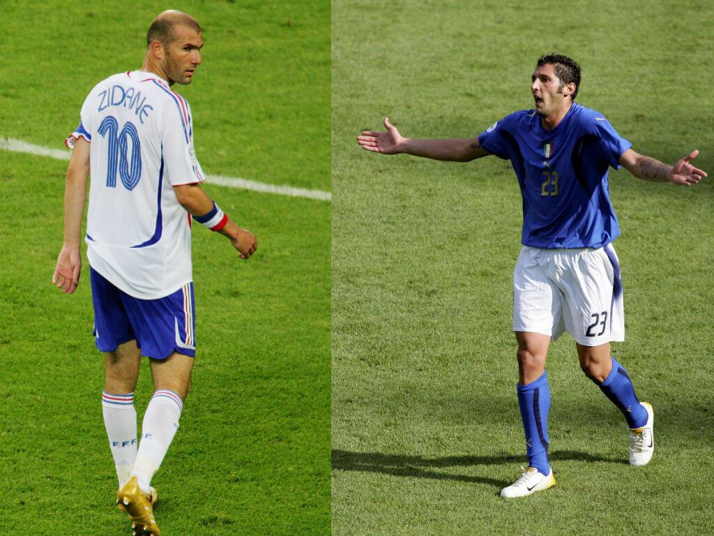 Zinedine Zidane vs Marco Materazzi. Foto: Getty Images
