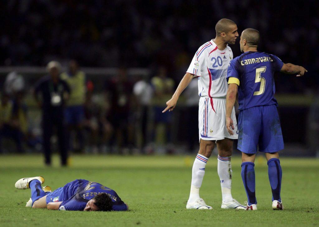 Zidane nach seiner Tat. Foto: Getty Images