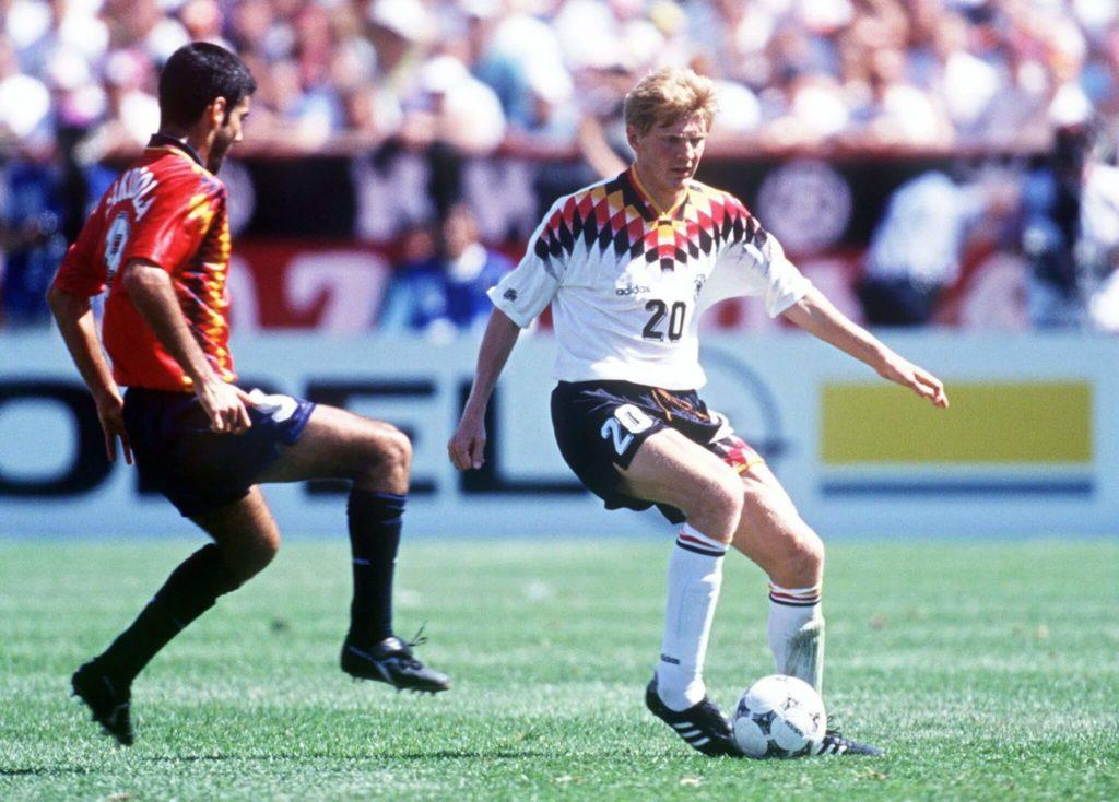 Deutschland vs. Spanien bei der WM 1994. Foto: Getty Images