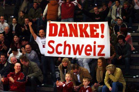 Jubel über den Sieg der Schweiz; Foto: Imago