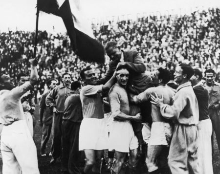Der Jubel des italienischen Teams. Foto: Getty Images
