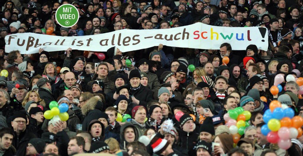Fans setzen sich für schwule Fußballer ein. Foto: Getty Images