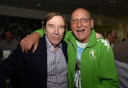 Günter Netzer (links) und Wolfgang Kleff spielten unter Weisweiler. Foto: Getty Images