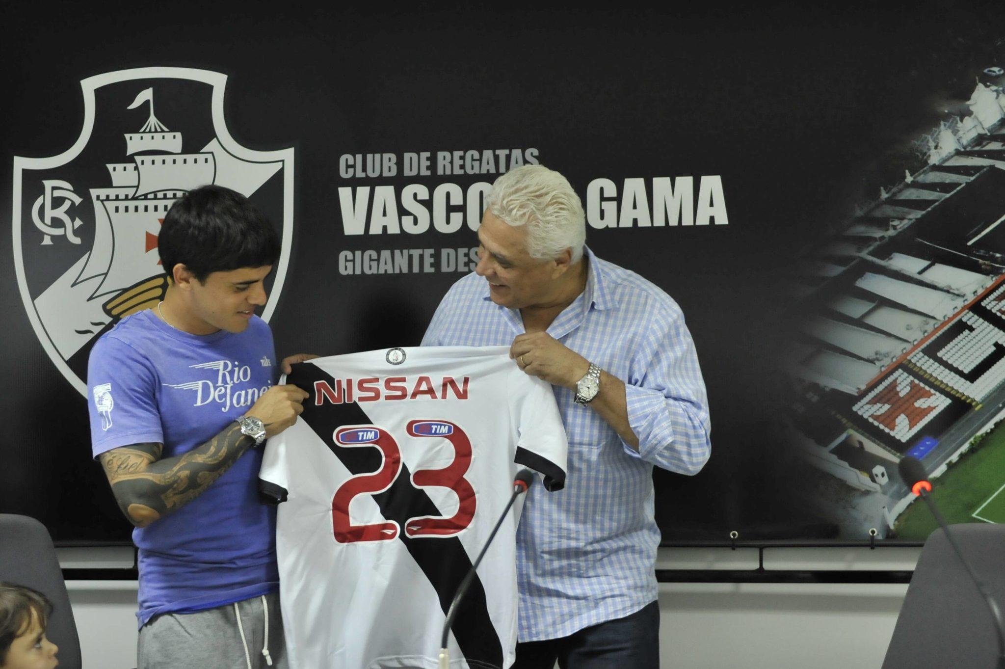 Fagner and Roberto Dinamite at Vasco da Gama in Rio de Janeiro. Image: Imago