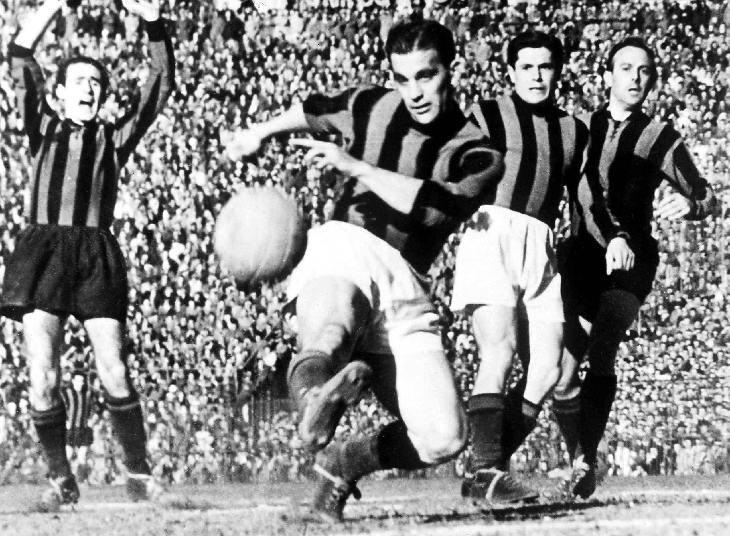 """Gunnar Nordahl - iconic hero of Italian """"calcio""""."""