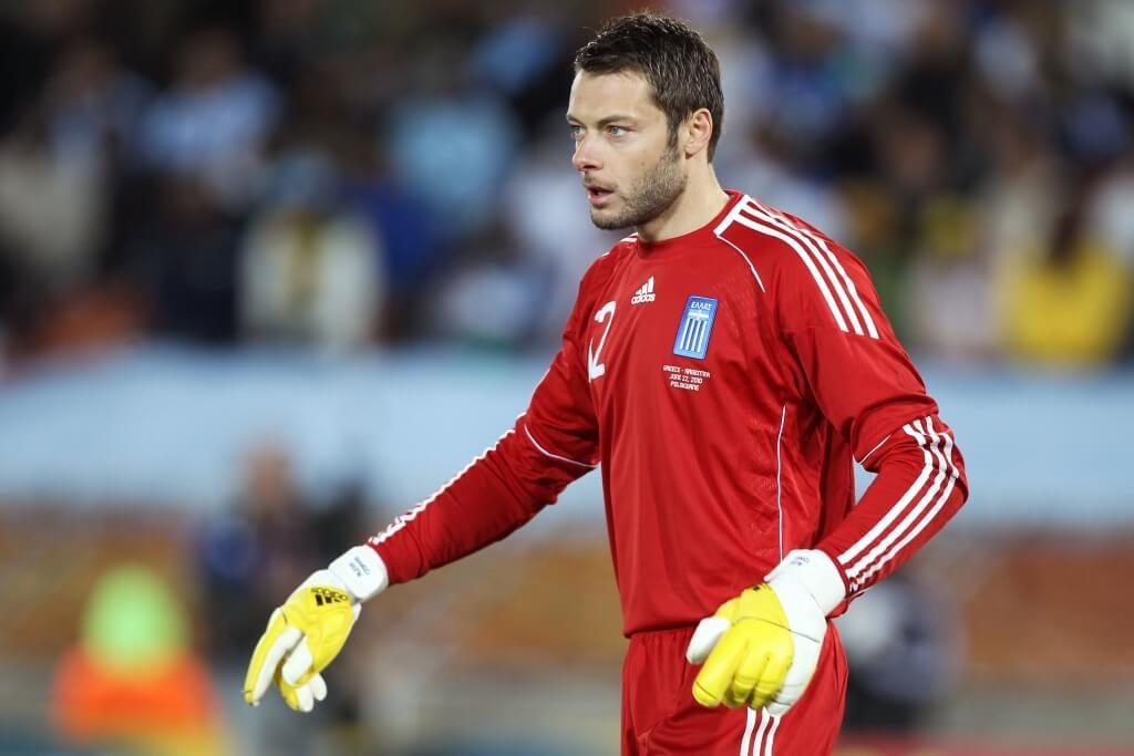 Zu seinem ersten Länderspieleinsatz kam Alexandros Tzorvas am 19. November 2008 beim Heimspiel Griechenlands gegen die italienische Nationalmannschaft. Foto: Getty Images