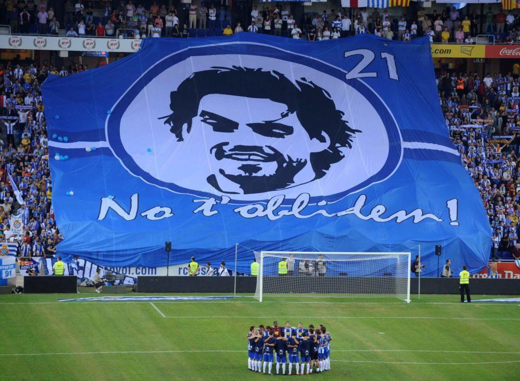 Die Espanyol-Spieler gedenken Daniel Jarque. Foto: Getty Images