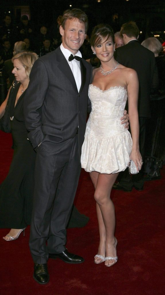 Danielle Lloyd mit Teddy Sheringham. Foto: Getty Images