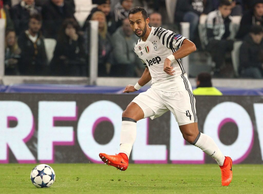 TURIN, ITALY - MARCH 14: Medhi Benatia of Juventus FC in action during the UEFA Champions League Round of 16 second leg match between Juventus and FC Porto at Juventus Stadium on March 14, 2017 in Turin, Italy. (Photo by Marco Luzzani/Getty Images)