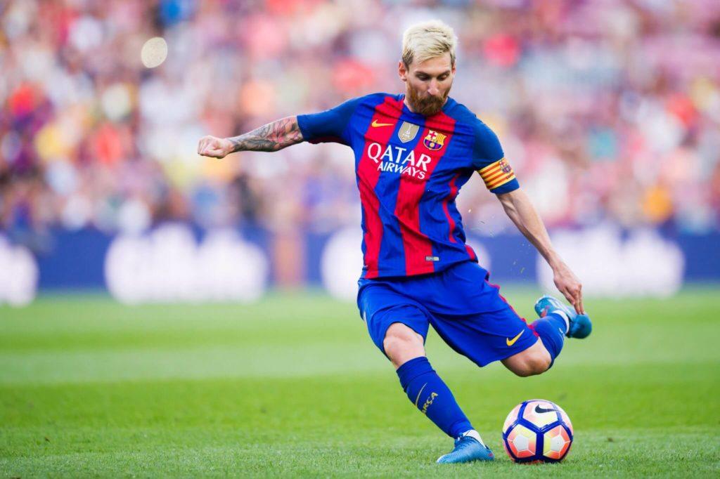 Unter Trainer Pep Guardiola bei Barca und auch in der Albiceleste wurde Messi zunehmend in der Angriffszentrale aufgeboten. Foto: Getty Images
