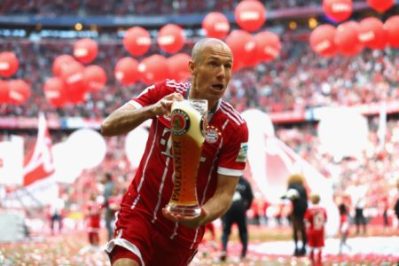 Arjen Robben wurde mit dem FC Bayern 8-mal Deutscher Meister.
