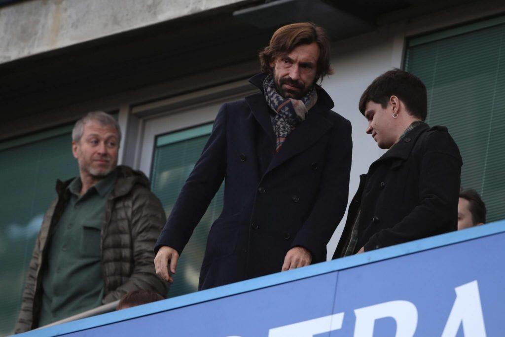 Roman Abramowitsch mit Andrea Pirlo. Foto: Getty Images