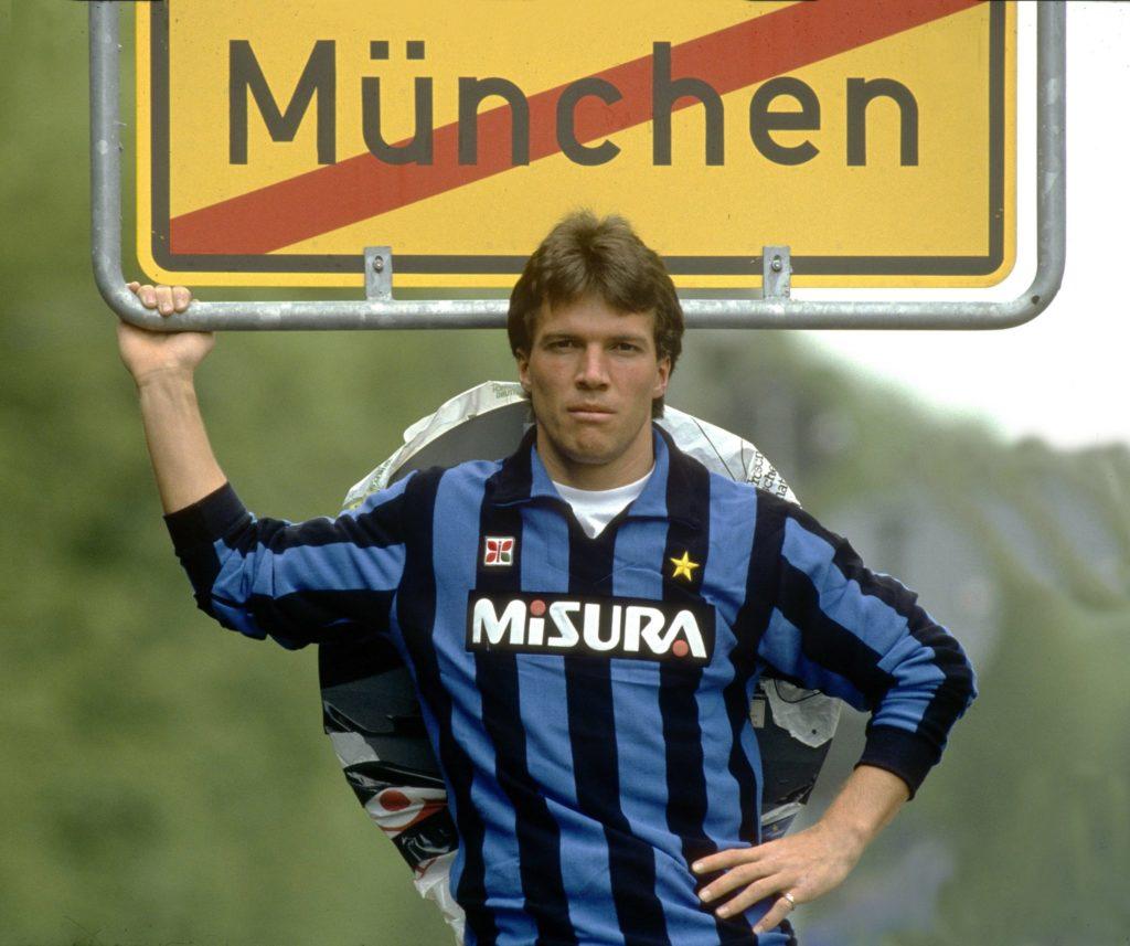 Lothar Matthäus (FC Bayern München) Wechsel zu Inter Mailand.