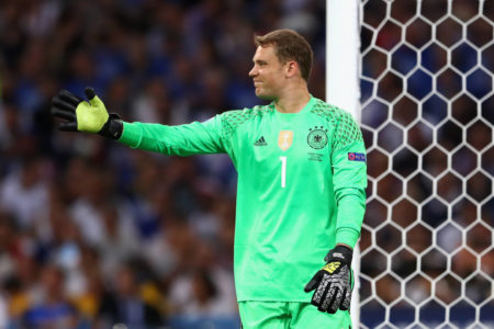 MARSEILLE, FRANCE - JULY 07:  Manuel Neuer of Germany reacts during the UEFA EURO 2016 semi final match between Germany and France at Stade Velodrome on July 7, 2016 in Marseille, France.