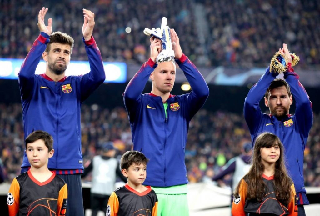 Marc André ter Stegen in Diensten des FC Barcelona.