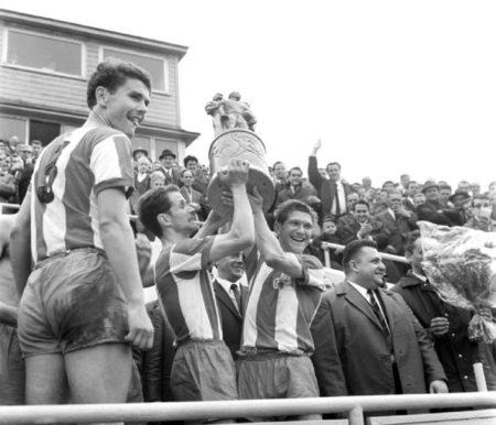 1968: Union Berlin feiert den FDGB-Pokalgewinn.