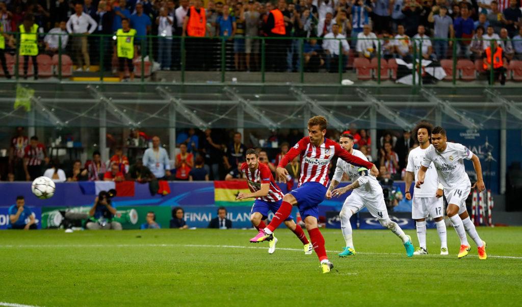 Das Trauma: Griezmann vergibt im Champions-League-Finale 2016 gegen Real Madrid einen Elfmeter für Atlético.