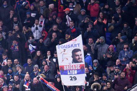Die Fans und das Stadion von Olympique Lyon.