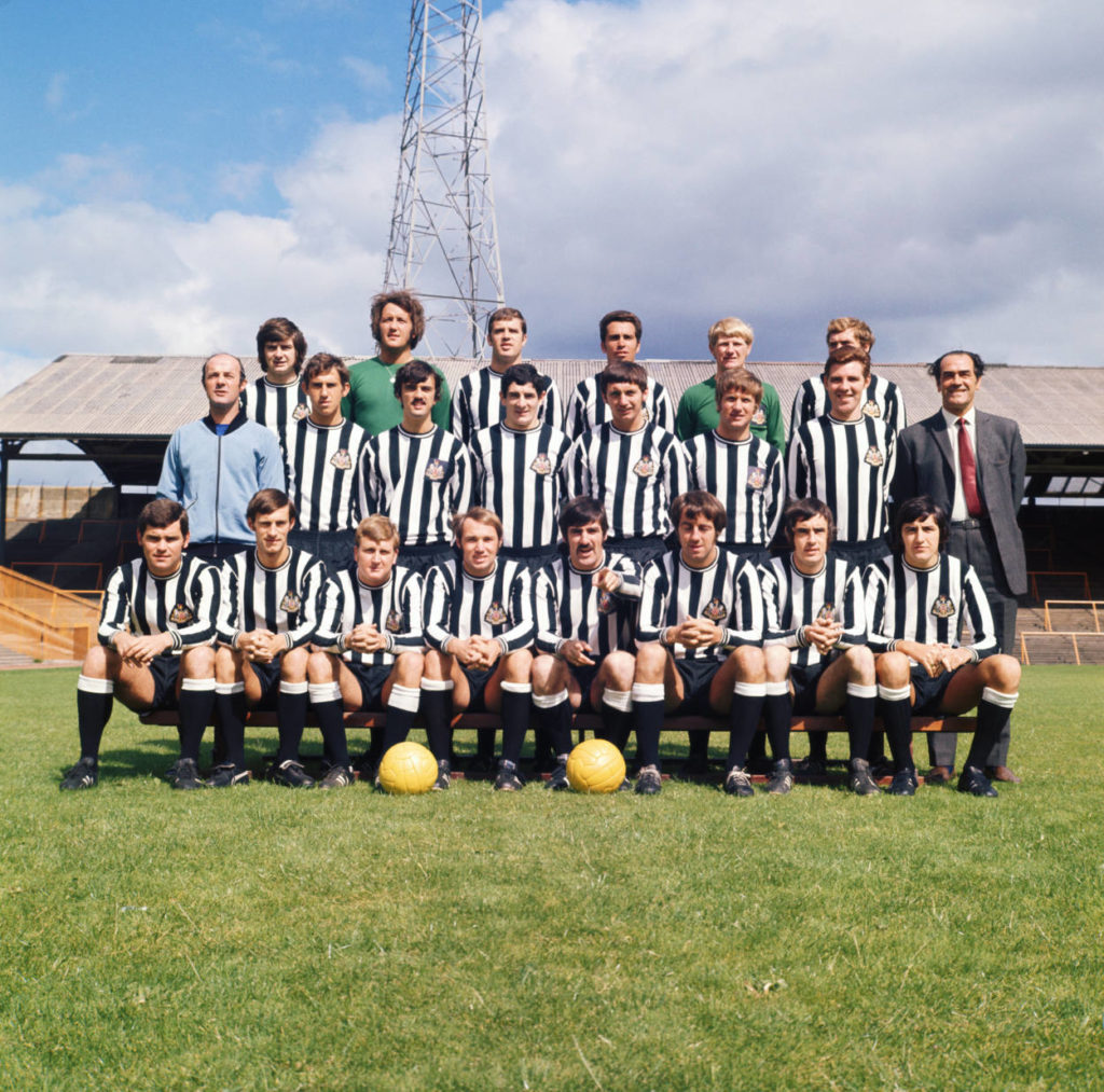 The Newcastle United F.C. team, 1970.