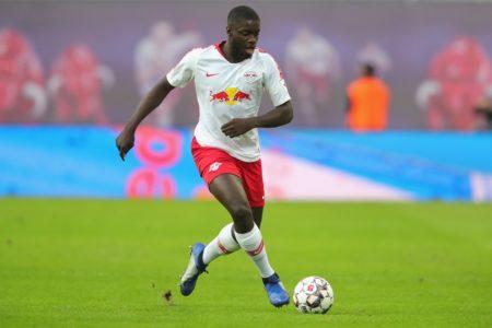 Upamecano im Spiel für RB Leipzig.
