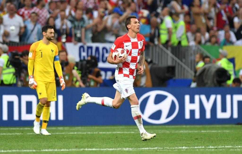 Mario Mandzukic mit Kroatien im WM-Finale gegen Frankreich (2:4) am 15. Juli 2018 in Moskau