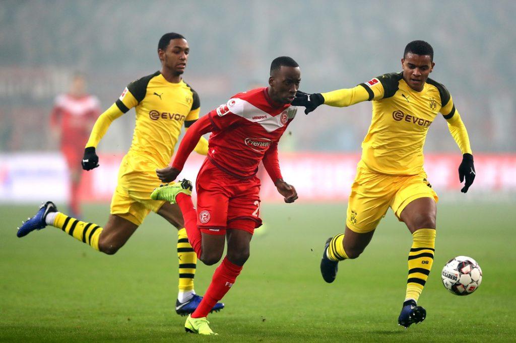 Auch mit Diallo konnte Borussia Dortmund im Dezember 2018 die erste Saison-Niederlage bei Fortuna Düsseldorf nicht vermeiden...