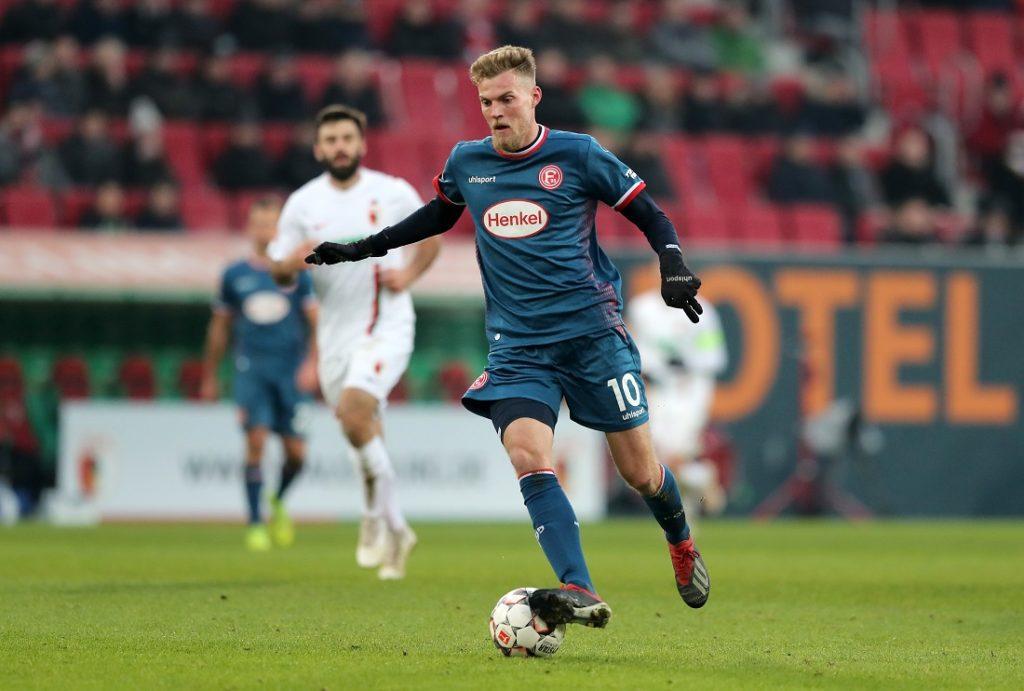 Im Spiel beim FC Augsburg gelang Marvin Ducksch am 19. Januar 2019 sein einziges Bundesliga-Tor für Fortuna Düsseldorf.