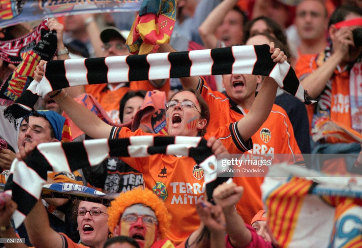 Valencia fans in all orange