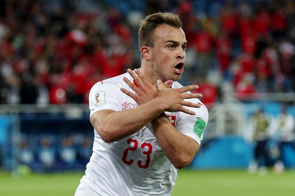 Diese Jubel-Geste beim 2:1 für die Schweiz gegen Serbien am 22. Juni 2018 in Kaliningrad brachte Xherdan Shaqiri viel Ärger ein...