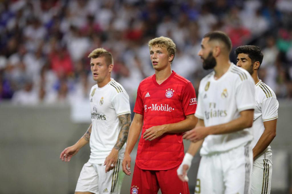 """Fiete Arp im ,,International Champions Cup"""" im Juli 209 mit dem FC Bayern gegen Real Madrid."""