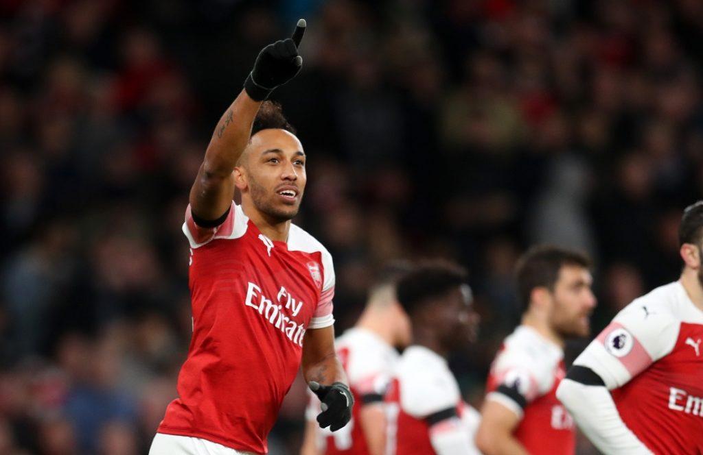 Pierre-Emerick Aubameyang jubelte für den FC Arsenal in der Saison 2018/2019 insgesamt 22-mal, auch gegen den FC Fulham am Neujahrstag 2019.  (Photo by Catherine Ivill/Getty Images)