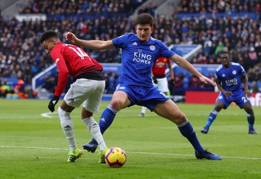 Harry Maguire und Jesse Lingard (l.), hier im Premier-League-Spiel im Februar 2019, spielen künftig zusammen für Manchester United.