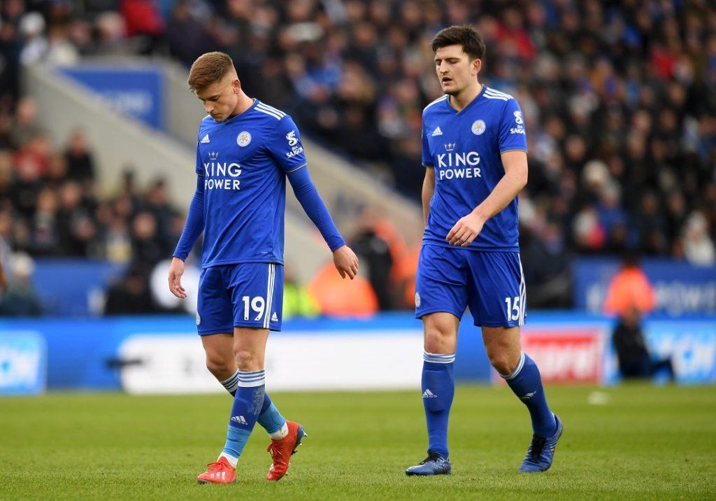 Harry Maguire (r.) im Spiel zwischen Leicester City und Manchester United am 3. Februar 2019.
