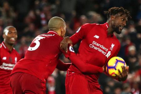 Liverpools epischer Erfolg über Everton in der sechsten Minute der Nachspielzeit durch Divock Origi (r.) könnte ein Thema für einen neuen Song werden..