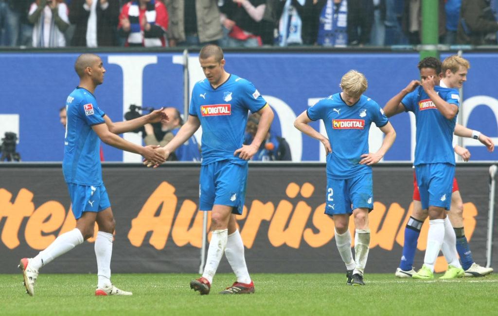 Nach dem 0:1 beim Hamburger SV am 4. April 2009 hatte 1899 Hoffenheim in der Bundesliga keine Meisterschafts-Chance mehr.