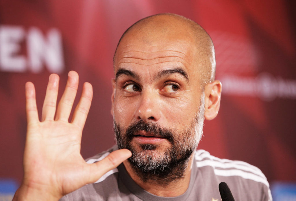 Pep Guardiola Manchester City manager
