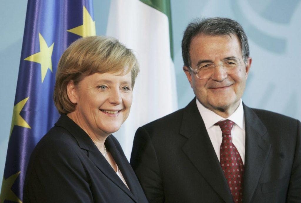 Angela Merkel und Romano Prodi.