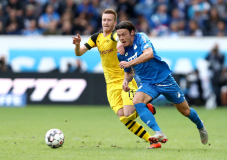 Auch Nationalspieler Nico Schulz (r., mit Marco Reus) wechselt zu Borussia Dortmund. (Photo by Alex Grimm/Bongarts/Getty Images)